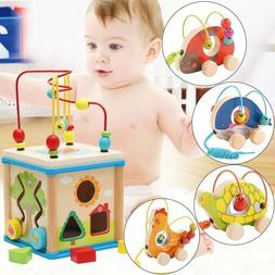 Lovely 5 In 1 Activity Cube Real Wood Toys For 12 Months Bab