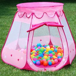 Lovely Girls Pink Tent Infant Baby Kids Play Tent Indoor Out