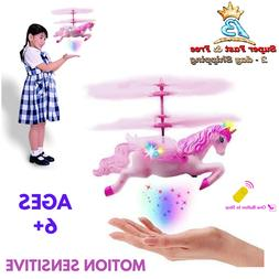 Magical Flying Unicorn Fairy Tale Helicopter Drone Doll Toys