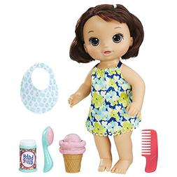 BABY ALIVE MAGICAL SCOOPS BABY: Brunette Baby Doll with Dres