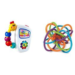 Manhattan Toy Winkel Rattle and Sensory Teether Toy with Bab