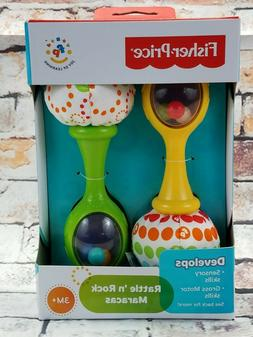 Maracas Musical Baby Toy New Rattle Rock Infant Fisher Price