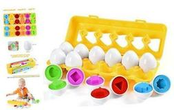 Matching Easter Eggs ,12 Packs Learning Toys Gift for Toddle