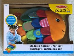 Melissa & Doug 9195 Flip Fish Soft Baby Toy Ages 0+ NEW