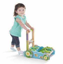 MELISSA & DOUG Chomp and Clack Alligator Push Toy - New Fact