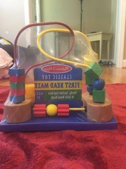 Melissa & Doug First Bead Maze - Wooden Educational Toy Bran
