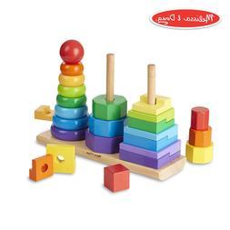 Melissa & Doug Geometric Stacker Toddler Toy, Rings,25PCS, 2
