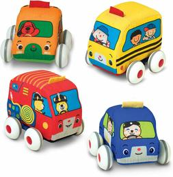 Melissa & Doug Pull-Back Vehicles, Soft Baby and Toddler Toy