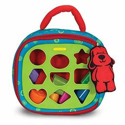 Melissa Doug Take-Along Shape-Sorter Baby and Toddler Toy (D
