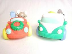 Infantino Merry Mover Car LOT of 2 Volkswagen VW Bus and Bee