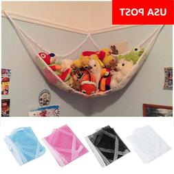 Mesh Toy Hammock Net Corner Stuffed Animals Baby Kids Hangin