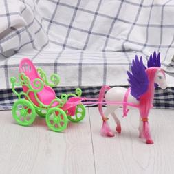 Mini Dream Fly Horse Carriage For Kelly Doll Accessories Gir