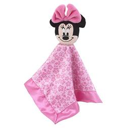 Disney Minnie Mouse Lovey Security Blanket, Pink/Rose