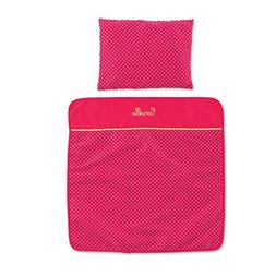 Corolle Mon Classique Cherry Blanket and Pillow Set