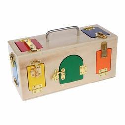 Montessori Lock Box Kids Children Educational Preschool Trai
