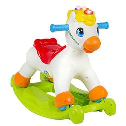 Musical Educational Rocking Horse With Ride On Rollers Learn