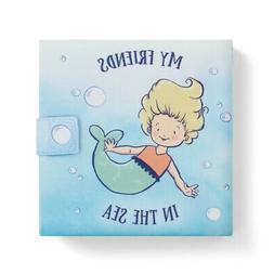 My Friends In The Sea Nautical Blue 7 x 7 Fabric Children's