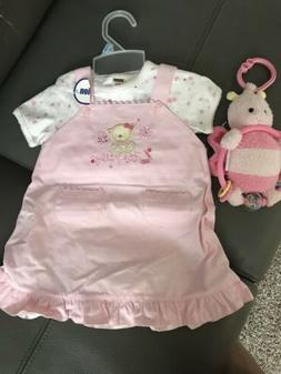 New Baby Girl Two Piece Dress Outfit 3-6 Months With A New T