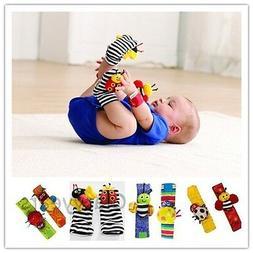 New Baby Infant Soft Toy Developmental Wrist Strap Foot Sock