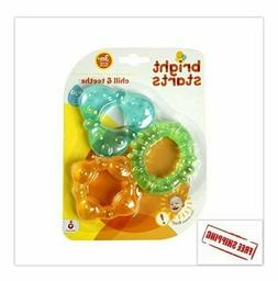 New Bright Starts Baby Kids Chill & Teethe Teething Toy he