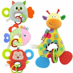 New born Baby Infant Animal Soft Rattles Teether Hanging Bel