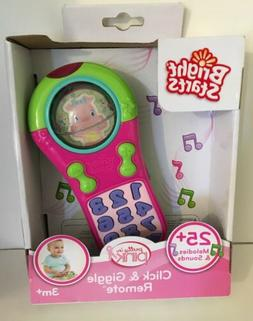 New Bright Starts Click And Giggle Remote Pink or Blue 3m+ B