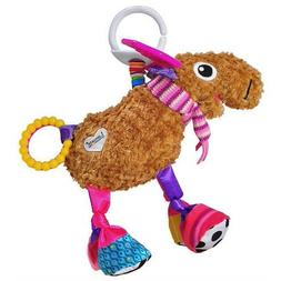 NEW Lamaze Clip N Go Brown Plush Mortimer Moose Pink Teether