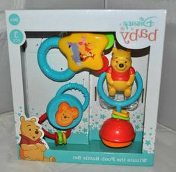 New Disney's Winnie The Pooh Baby Rattle Set 3 Months+ NIB I
