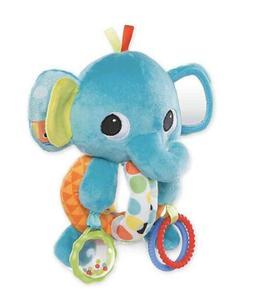 NEW Bright Starts EXPLORE & CUDDLE ELEPHANT Baby Soft Car Se