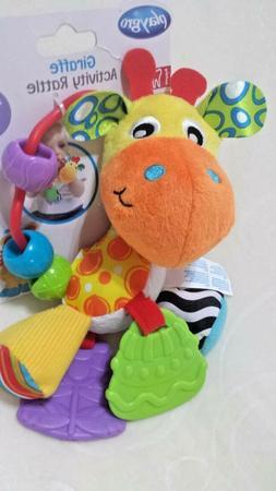 New Playgro Giraffe Activity Rattle BPA Free 3M+