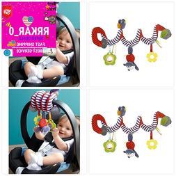 NEW Kid Baby Crib Cot Pram Hanging Rattles Spiral Stroller C