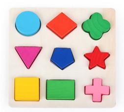 New Kids Baby Wooden Learning Geometry Educational Toys Crea