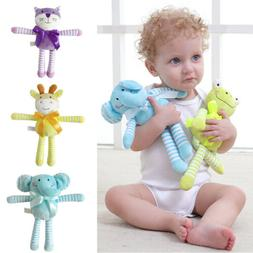 new newborn baby rattles plush animal toys