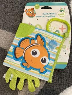 New Disney Pixar Baby Finding Nemo Teether Soft Book Baby To