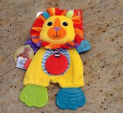 Infantino New Plush Lion Cuddly Teether Crinkle Texture Acti