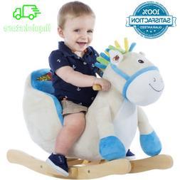 New Soft Stuffed Plush Horse Baby Rocker, Kids Ride-On Toy F