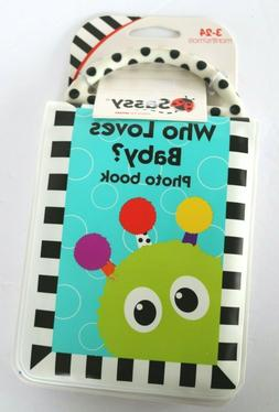 NEW Sassy Who Loves Baby? Photo Album Book Teether Soft Inte