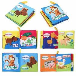 Newborn 0-3 Years Infant Fabric Cloth Books Educational Baby