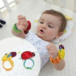 Newborn Baby Cute Animal Hand Wrist Bell Foot Sock Rattles I