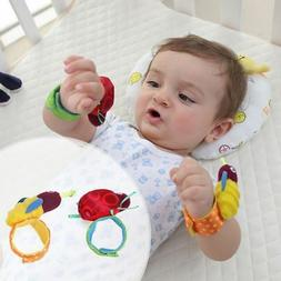 Newborn Baby Boy Girl Infant Soft Toy Wrist Band Rattles Fin