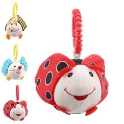 Newborn Baby Stroller Rattle Plush Toy for Kids Infant Ring