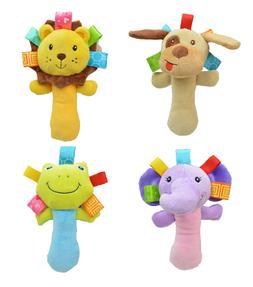 Newborn Baby Toys 0-12 Months Cartoon Animal Baby Plush Ratt