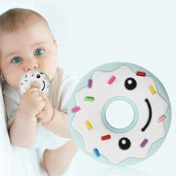 Newborn Kids Baby Donuts Teether Toys Infant Silicone Doughn