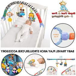 Newborn Pram Activity Bar Hang Toys Educational Travel Play