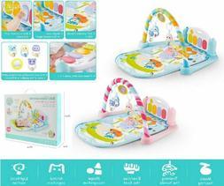 Newborn Musical Play Soft Piano Gym Mat Activity Play Gym Ba