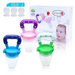 3PCS Nipple Fresh Food Milk Nibbler Feeder Feeding Tool Safe