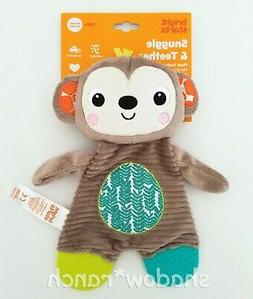NWT Bright Starts Snuggle & Teethe Monkey Plush Baby Teether
