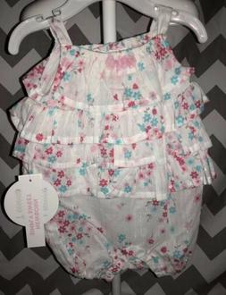 NWT Toys R Us Koala Baby Simply Sweet Girl Floral Romper 0-3