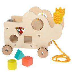 Manhattan Toy Natural My Pal Elly Wooden Pull-Along