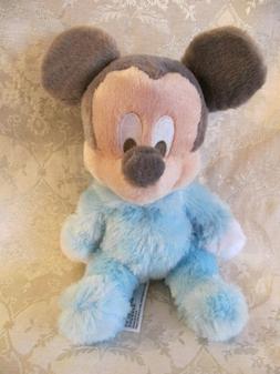 Disney Parks Mickey Mouse Baby Plush Pastel Blue W Chime Rat